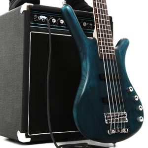 Amp and 5 String Bass Guitar
